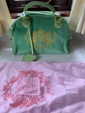 Juicy Couture Bowling Bag, Retro, Green Velour, Used Once, Gold Logo, + Dustbag.