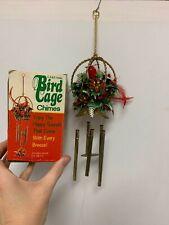 Vintage Cardinal Bird Cage Chimes Chimes made of metal Original Box