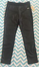 New MICHAEL KORS Faux Leather Front Panel Skinny Pants Leggings M Black NWT $130