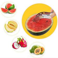 Edelstahl DE Schneller Melonenschneider Wassermelone Messer Küche Obstschne F2N4