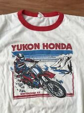 VTG 80's Honda Racing Motocross Ringer Shirt Motorcycle Men's XL MADE IN USA