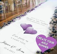 Create a unique WEDDING AISLE RUNNER from your own design idea -20ft