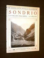 Sondrio, la vallata dell'Adda e lo Stelvio - Le Cento Città d'Italia illustrate