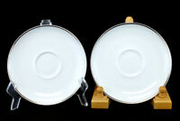 "Lot Of Two 6.25"" Easterling China Caprice Saucers From Bavaria, Germany"