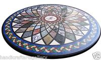 """30""""x30"""" Marble Dining Table Marquetry Mosaic Italian Inlaid Kitchen Décor Arts"""