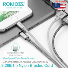 ROMOSS 3.28ft MFI Fast Charging Lead USB Lightning Charger Cable for iPhone iPad