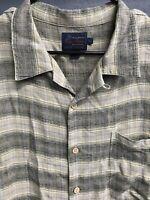 🌴Tommy Bahama Men's Button Down Check Plaid Shirt Size Large L Multicolor🌴