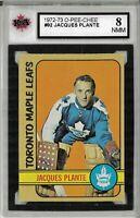 1972-73 O-Pee-Chee #92 Jacques Plante - Graded 8.0 (050819-43)