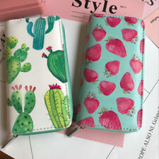 Women Leather Zipper Around FLoral Long Wallet Clutch Phone Card Coin Hold~