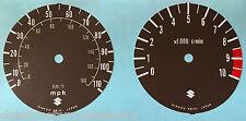 SUZUKI X7 GT250E SPEEDOMETER AND TACHOMETER FACE RESTORATION DECALS MPH