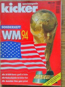 Kicker Sportmagazin Sonderheft WM 94 USA 192:Seiten