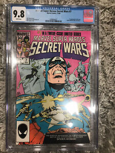 Marvel Super-Heroes Secret Wars #7 CGC 9.8 White Pages. 1st New Spider-Woman.