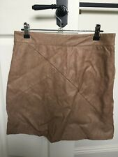 2011d67a3 Ava Tan Leather Mini Skirt Size 12 Zip on back Excellent Condition