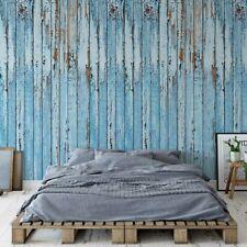 Tapete Vlies Fototapete Holoptik Rustikal blau Lackierte Holzplanken Textur