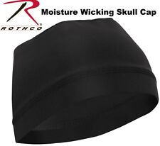 Mens Black Dome Cap Biker Football Skull Hat Helmet Liner Sports Beanie Hat 5588