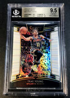 TRAE YOUNG 2018 PANINI SELECT #45 PRIZM WHITE REFRACTOR ROOKIE RC /149 BGS 9.5