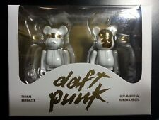 DAFT PUNK 100% BEARBRICK FIGURE MEDICOM GUY MANUEL THOMAS WHITE SUITS NEW SEALED