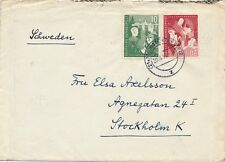 153/4 - Bundesjugendplan - Satz auf portogerechtem Brief nach Schweden 29.3.1953