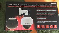 NEW SECURITYMAN DUMMYDOME Solar-Powered Speed Dome Dummy Camera/Flashing LED