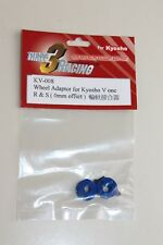 Three 3 Racing Wheel Adaptor for Kyosho V One R & S (0mm offset) KV-008 NOS (A*)