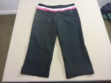 037 WOMENS EX-COND NIKE DRI FIT BLK / PINK / WHITE GYM TIGHTS MEDM $70 RRP.