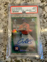 2016 Bowman Chrome Prospects Green Refractor RC/Auto Alex Bregman #13/99 PSA 9
