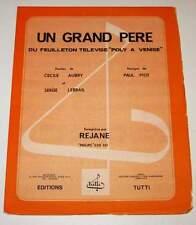 Partition vintage sheet music Un Grand Père Série TV Poly à Venise * 70's Aubry