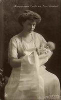 Adel Monarchie ~ 1910 Kronprinz Prinzessin Cecilie Prinz Friedrich als Kind Baby