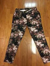 NWT LIKE AN ANGEL WOMENS 2X FLORAL Faux Leather Stretch Pants