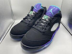 Air Jordan 5 Black Grape Low Golf Shoes Size 11