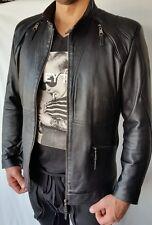 Must-Have Herren Lederjacke in schwarz, Gr. L echtem Rindsleder neu