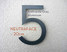 NEUTRAFACE Aluminium House Numbers - Larger 20cm -  FAST, FREE UK DELIVERY