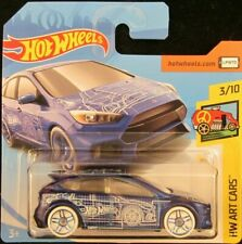 Hot Wheels Ford Focus RS BLUE #276 2018 new on short card