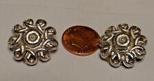 Silvertone Coro Earrings