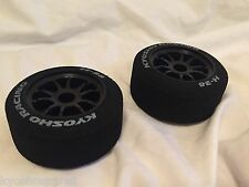 Kyosho PLAZMA FRONT WHEELS AND TYRES, H-38 2pcs, NIP, - 37501