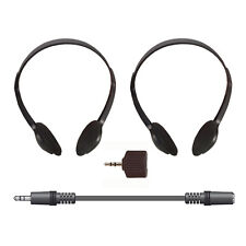 Electrovision A088A Stereo Headphones - 2m Lead