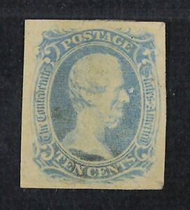 CKStamps: US Confederate States Stamps Collection Scott#9A Used Spot Thin Crease