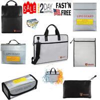 Fireproof Bag Explosion-proof  Document Battery Cash Passport Handbag Briefcase