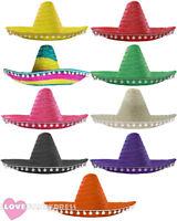 12 X MEXICAN SOMBRERO HAT WILD WESTERN BANDIT FANCY DRESS COSTUME ACCESSORY
