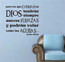 Wall Decal. Inspirational Wall Decal. Christian Decor. Biblia. Isaias 40:31 V2