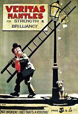 Impresión De Arte lámparas de gas Veritas Mantos Antiguo cartel AD