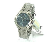 SEIKO Men SLL181 Perpetual Calendar Watch S/Steel Blue Dial Retail $425 8F32 Mvt