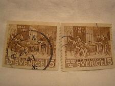 Sweden Stamp 1941 Scott 316 A63 Brown 15 Set of 2