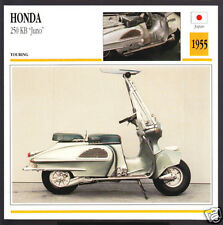 1955 Honda 250 KB Juno Scooter Moped 219cc Japan Bike Motorcycle Photo Spec Card