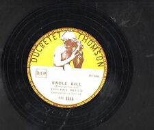 TRIO HILL BILLY'S disco 78 giri MADE in ITALY Uncle Bill + Sioux City Sue