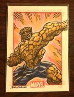The Thing Marvel 70th Anniversary color sketch card 1/1