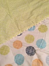 "2 Lolli Living Reversible Baby Bot Quilt Quilted Comforters - Bot Dot  37"" x 43"""