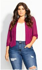City Chic small raspberry cropped jacket