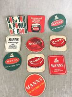 Vintage Beer Mats  Manns Brewery Job Lot Mixed Collection Drinks Coasters