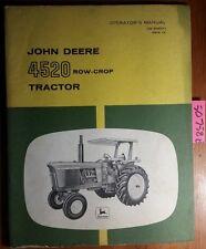 John Deere 4520 Row-Crop Tractor Owner's Operator's Manual Om-R46011 C9 3/69